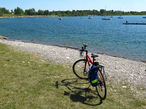 Bike at Glenmore Reservoir