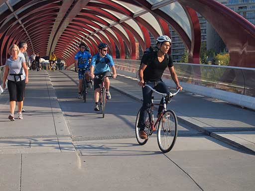 Cycle commuting in Calgary